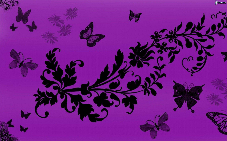 Tecknade blommor for Sfondi hd viola